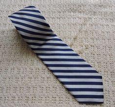 Robert Talbott Nordstrom Men White Blue Striped Silk Tie #RobertTalbott #Tie