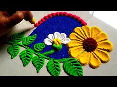 Beautiful and innovative flowers rangoli design using spoon --------------------------------------------------------------------- This channel based on rango. Easy Rangoli Designs Videos, Rangoli Designs Latest, Colorful Rangoli Designs, Rangoli Designs Images, Beautiful Rangoli Designs, Small Rangoli, Flower Rangoli, Diwali Photography, Free Hand Rangoli Design