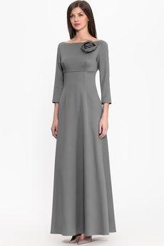 Платье из шелка с брошью CHARISMA
