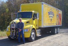 Carl Boettcher HTS Systems' National Accounts Manager with LT Verrastro MillerCoors Twisted Tea Kenworth beverage truck. Kenworth equipped with Ultra-Rack unit. Sikorsky Aircraft, Twisted Tea, Truck Transport, Tilt, Beverage, Diesel, Delivery, The Unit, Trucks