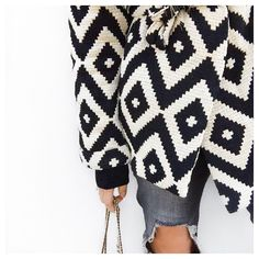 @boho_addict - Black Pattern Kimono LennyB - Ripped Skinny Mango