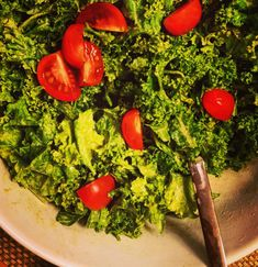 Raw Vegan Sweet Mustard Kale Salad with Coconut Bacon