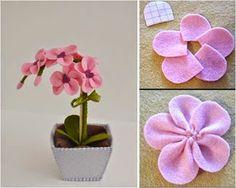 Artesanais & Cia: Vasinhos de flores de tecido!!!!