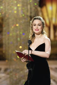 Brie Larson speaks onstage during the 89th Annual Academy Awards at Hollywood & Highland Center on February 26, 2017 in Hollywood, California.