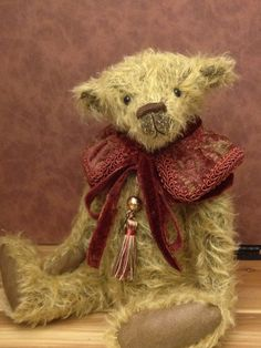 Frederick artist mohair bear by Belindabears on Etsy