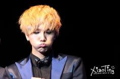 Super Junior YeSung Ii's so cute how he bubbles his cheeks... I do that all the time!