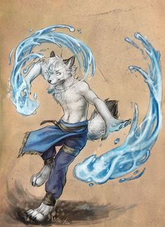 A water bender wolf it looks like