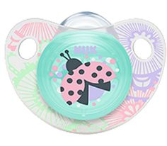 NUK Trendline Adore Pacifier Orthodontic 0-6 Months BPA Free Silicone (8646-2) #NUK