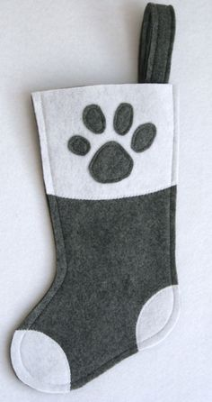 Pet Paw Christmas Stocking for Dog or Cat  by stitcholicious, $18.00