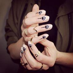 Beautiful nail design. Transparent and black details. @trnailart