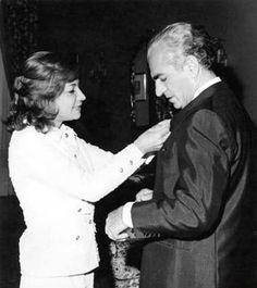 Princess Ashraf and his twin brother Mohamad Reza Pahlavi, Shah of Iran