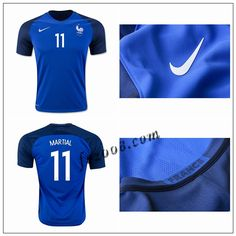 France Maillots foot MARTIAL UEFA Euro 2016 Domicile