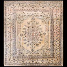 Tabriz Rug - 40-2024 | Persian Formal 8' 1'' x 9' 0'' | Ivory, Origin Persia, Circa: 1880 #antique #rug #nyc #RADR #tabriz #carpet