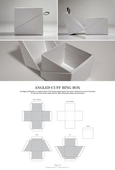 Angled Cuff Ring Box - Packaging & Dielines.