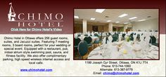 Chimo Hotel in Ottawa offers 256 guest rooms, suites, and Jacuzzi suites. Featuring 7 meeting rooms, 3 board rooms, perfect for your wedding or special event.