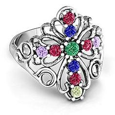 """""""In the name of Spirituality"""" Cross Mother's Ring #jewlr"""