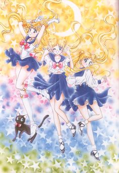 美少女戦士セーラームーン原画集 Bishoujo Senshi Sailor Moon Original Picture Collection Vol.1 by Naoko Takeuchi - Title page of the April 1992 Nakayoshi