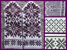 Crochet Mittens Pattern, Knit Mittens, Knitted Gloves, Knitting Stitches, Knitting Yarn, Free Knitting, Knitting Patterns, Scandinavian Pattern, Snowflake Pattern