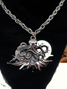 Steampunk Octopus Necklace Vintage Watch by VintageMemoryJewelry, $34.00