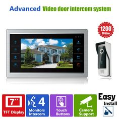 "123.27$  Watch here - http://aliigg.worldwells.pw/go.php?t=32410350613 - ""Homefong 7"""" TFT 1200TVL Door Monitor Video Intercom Home Door Phone Recorder System SD/TF Card Supported Waterproof Rain Cover"""