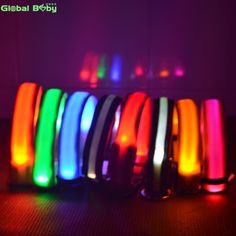 Cheap cat leash, Buy Quality led dog collar directly from China dog collar light Suppliers: Nylon Night Safety LED Dogs Collar Lights Flashing Glow Pet Supplies Dog Cat Leash Big Dog Kennels, Dog Treat Pouch, Led Dog Collar, Dog Collars, Cat Leash, Pet Dogs, Pets, Dog Bag, Dog Safety