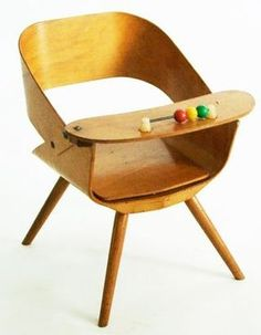 cool vintage children's high chair very scandinavian | Repinned by www.thebonniemob.com | British designer baby and kids clothing, ships worldwide and Express to USA.