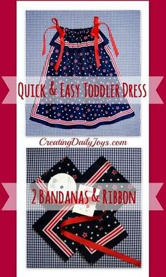 Bandana Dress for a Toddler - Creating Daily Joys Sewing Kids Clothes, Sewing For Kids, Diy Clothes, Children Clothes, Barbie Clothes, Baby Sewing Projects, Sewing Tutorials, Sewing Patterns, Dress Patterns