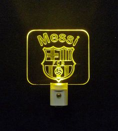 "#FutbolClubBarcelona #Soccer #Football Personalized LED Night Light - Unique LED Products 3D Engraved 3/8"" Clear Acrylic"