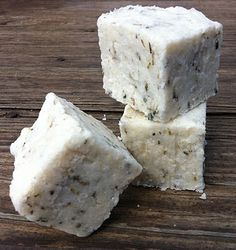 spring herb and salt bar with rosemary - coconut oil, palm oil, rapeseed oil, castor oil, coarse Mediterranean sea salt, dried rosemary, dried orange peel, lavender buds, essential oils of rosemary, peppermint, cornmint, fragrance oil, water, lye