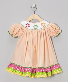 Take a look at this Helene's Closet Orange Owl Bishop Dress - Infant, Toddler & Girls on zulily today!