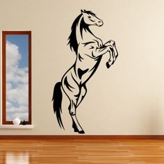horse wall stickers | Horse Rearing Animals Wall Art Stickers Decal Transfers | eBay