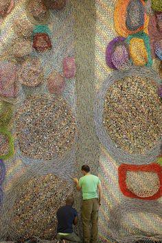 Nick Cave, Installation Street Art, Art Installations, Floating Garden, Journal Du Design, Colossal Art, Futuristic Art, Relief, Colorful Paintings