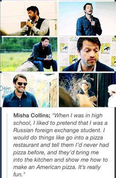 Misha Collins, the overlord himself, everybody.