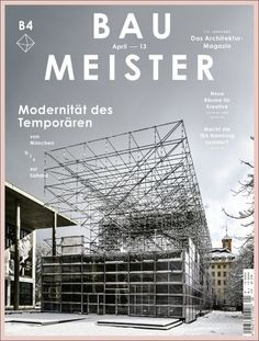 Bau Meister architectural magazine (Allemagne / Germany), April 2013 | Magazine Cover: Graphic Design, Typography, Photography |