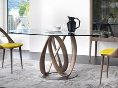 Porada Infinity Round Glass Dining Table by S.Bigi - Chaplins