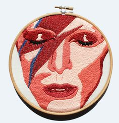 WOW! David Bowie #embrodery #handmade #music
