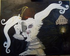 The Sultan of Paracosm White Rabbits, Original Paintings, Lion Sculpture, Fantasy, Statue, Cats, Artist, White Bunnies, Gatos