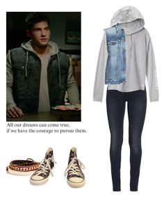 Theo Raeken - tw / teen wolf by shadyannon on Polyvore featuring polyvore fashion style Victoria's Secret Genetic Denim 7 For All Mankind Converse GUESS clothing