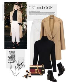 """Get the look"" by yexyka ❤ liked on Polyvore featuring Emilia Wickstead, Theory, Preen, Valentino, Dolce Vita and coolcoat"
