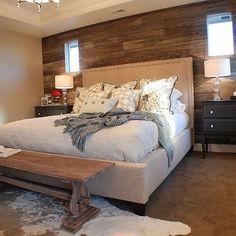 Rustic Chic Master Bedroom - eclectic - bedroom -