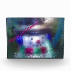 Frosty Snowman Merry Christmas Decoration from Florals by Fred #zazzle #gift #Christmas