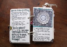 Art journal smashbook lettering   besottment by paper relics: journaling