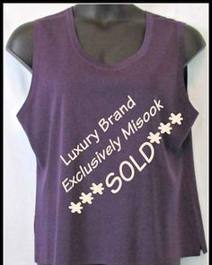 #Luxury brand #misook is #affordable at UrbanThick.com -#SOLD - Exculsively misook Purple Sleeveless Knit Shell Top Size 2x similar item sells for $148 - We got Susan #paid #getpaid #consignment #onlineshopping #onlineboutique #sellyourclothes #plussize #plussizeclothes #trendy #stylish #designer #quality Find more at UrbanThick.com in Susan's Closet