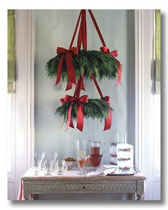classy Christmas decorating {by using only two things!}