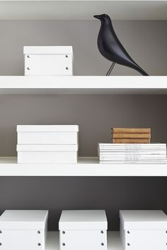 Study - Detail 'Perennial Grey' (245), 'Dolphin' (246), 'Knightsbridge' (215). Bookcase - 'Loft White' (222)