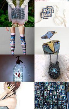 jurgaZa featured my textile art The Sea Was Blue