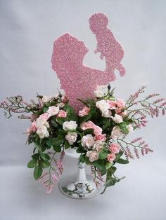 Baby shower centerpieces with butterflies, elephant, palm trees,baby s – Designs by Ginny
