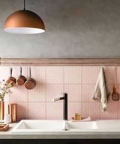 Hints of dusty pink to make your #kitchen a room you want to be in...we explore our current #colour obsession now LIVE on the journal [link in bio]