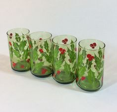 A personal favorite from my Etsy shop https://www.etsy.com/listing/491802890/vintage-christmas-classic-holly-red