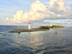 Lighthouse in Nassau Paradise Island, The Bahamas.